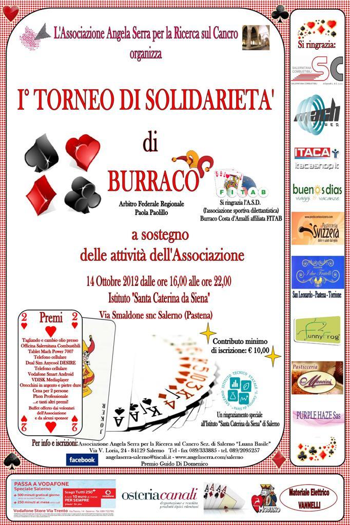 Primo Torneo Di Solidarieta Di Burraco Il 14 Ottobre A Salerno Rivistainforma It Rivista Sul Benessere E Salute